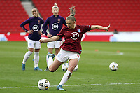 13th April 2021; Bet365 Stadium, Stoke, England; Georgia Stanway of England warms up during the womens International Friendly match between England and Canada