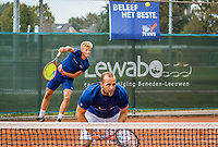 Netherlands, September 27,  2020, Beneden-Leeuwen, TV Lewabo, Competition, Men's premier league, TV Lewabo vs TV Suthwalda, Doubles:  J.Jans (NED) and Boy Westerhof (NED)<br /> Photo: Henk Koster/tennisimages.com