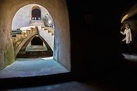 Yogyakarta, Java, Indonesia.  Underground Mosque, part of the Taman Sari (Water Palace) Complex.