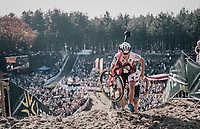 Diether Sweeck (BEL/Era-Circus) climbing out of the infamous Zonhoven 'Kuil' (or 'Pit')<br /> <br /> Elite Men's Race<br /> CX Super Prestige Zonhoven 2017