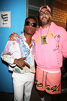 NEW YORK, NY - SEPTEMBER 11: WizKid and Swizz Beatz at BRIC Celebrate Brooklyn! Festival at The Lena Horne Bandshell in Prospect Park, Brooklyn, New York City on September 11, 2021. <br /> CAP/MPI/WG<br /> ©WG/MPI/Capital Pictures