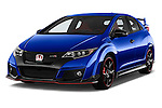 2015 Honda Civic Type-R 5 Door Hatchback Angular Front stock photos of front three quarter view
