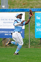 Outfielder TJ White (21) of the Dorman High School Cavaliers in a game against the Riverside High School Warriors on Saturday, March 27, 2021, at The Reservation in Greer, South Carolina. (Tom Priddy/Four Seam Images)
