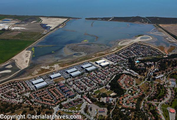 aerial photograph Hamilton Airfield, Novato, Marin county, California