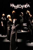 Roma 29/1/2004 <br /> Alta Moda Roma<br /> Sfilata di abiti dello stilista Matteo Thiela.<br /> Foto Andrea Staccioli Insidefoto
