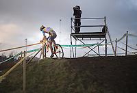 Tom Meeusen (BEL) soloing to the win<br /> <br /> 2014 Noordzeecross<br /> Elite Men