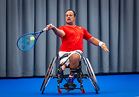 Amstelveen, Netherlands, 22 Augustus, 2020, National Tennis Center, NTC, NKR, National  Wheelchair Tennis Championships, Man's Single final single final : Tom Egberink (NED) <br /> Photo: Henk Koster/tennisimages.com