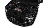 Car Stock 2018 Ford F-150 XL-SuperCrew 4 Door Pickup Engine  high angle detail view