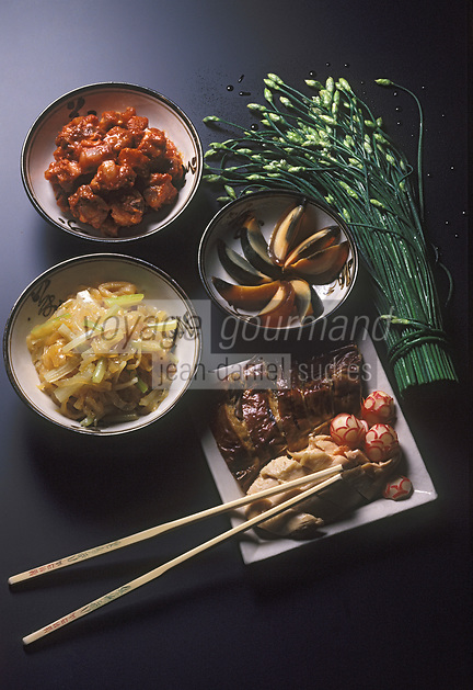 Asie/Chine: Gastronomie chinoise - Assortiment de plats chinois