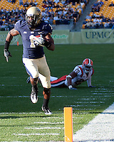 Pittsburgh wide receiver Cedric McGee scores on a 29-yard touchdown run. The Pittsburgh Panthers defeated the Syracuse Orange 37-10 at Heinz Field, Pittsburgh Pennsylvania on November 7, 2009..