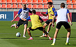 Atletico de Madrid's Hector Herrera, Angel Correa, Stefan Savic and Ivan Saponjic during training session. July 2,2020.(ALTERPHOTOS/Atletico de Madrid/Pool)