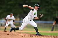 Jamestown Jammers pitcher Nick Neumann (12) delivers a pitch during a game against the Mahoning Valley Scrappers on June 16, 2014 at Russell Diethrick Park in Jamestown, New York.  Mahoning Valley defeated Jamestown 2-1.  (Mike Janes/Four Seam Images)