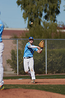 Jimmy Obertop (18) of Westminster Christian Academy in St. Louis, Missouri during the Baseball Factory All-America Pre-Season Tournament, powered by Under Armour, on January 14, 2018 at Sloan Park Complex in Mesa, Arizona.  (Freek Bouw/Four Seam Images)