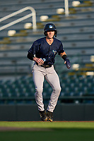Tampa Tarpons Cooper Bowman (12) leading off during Game Two of the Low-A Southeast Championship Series against the Bradenton Marauders on September 22, 2021 at LECOM Park in Bradenton, Florida.  (Mike Janes/Four Seam Images)