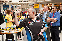 Phil 'The Power' Taylor darts at Sheffield Station
