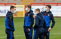 (l-r): Bolton Wanderers' Ryan Delaney , Matthew Alexander , Adam Senior and Billy Crellin inspecting the pitch before the match  <br /> <br /> Photographer Andrew Kearns/CameraSport<br /> <br /> The EFL Sky Bet League Two - Stevenage v Bolton Wanderers - Saturday 21st November 2020 - Lamex Stadium - Stevenage<br /> <br /> World Copyright © 2020 CameraSport. All rights reserved. 43 Linden Ave. Countesthorpe. Leicester. England. LE8 5PG - Tel: +44 (0) 116 277 4147 - admin@camerasport.com - www.camerasport.com