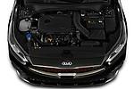 Car Stock 2021 KIA Forte GT 4 Door Sedan Engine  high angle detail view