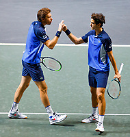 Rotterdam, The Netherlands, 15 Februari 2020, ABNAMRO World Tennis Tournament, Ahoy,<br /> Men's Doubles Final: Men's Doubles Final: Pierre-Hugues Herbert (FRA) and Nicolas Mahut (FRA).<br /> Photo: www.tennisimages.com