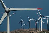 TURKEY, Karaburun near Izmir, 223 MW wind farm  of company Lodos Elektrik with Enercon E-82 wind turbines / TUERKEI, Karaburun, 223 MW Windpark der Firma Lodos Elektrik mit Enercon E-82 Windkraftanlagen