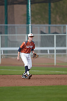 Kyle Rich (8) of KELLER High School in Keller, Texas during the Under Armour All-American Pre-Season Tournament presented by Baseball Factory on January 14, 2017 at Sloan Park in Mesa, Arizona.  (Kevin C. Cox/MJP/Four Seam Images)