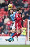 Aberdeen v St Johnstone…29.04.17     SPFL    Pittodrie<br />Kenny McLean and Muray Davidson<br />Picture by Graeme Hart.<br />Copyright Perthshire Picture Agency<br />Tel: 01738 623350  Mobile: 07990 594431