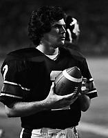 Kevin Starkey Ottawa Rough Riders quarterback 1981. Copyright photograph Scott Grant
