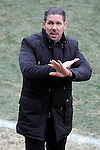 Simeone will be coach from Atletico Madrid until 2020, in the pic: Atletico de Madrid's coach Diego Pablo Cholo Simeone during La Liga match.February 7,2015. (ALTERPHOTOS/Acero)