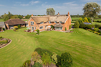 BNPS.co.uk (01202 558833)<br /> Pic: Savills/BNPS<br /> <br /> Pictured: The rear of the property and the garden.<br /> <br /> A historic thatched home where Cromwell's army stayed during the English Civil War is on the market for £1.6m.<br /> <br /> The Barracks, so-named for its links with Cromwell more than 370 years ago, has spectacular country views and is in one of Cheshire's most popular areas.<br /> <br /> The five-bedroom property just outside the picturesque village of Bunbury is a far cry from how it would have looked in Cromwell's time, having been extended over the years.<br /> <br /> It was used in the 17th century by Cromwell's armies during the siege of Beeston Castle - two miles away. The castle's location made it valuable to both the royalists and parliamentarians.