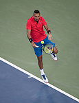 August  19, 2017:  Nick Kyrgios (AUS) defeated David Ferrer (ESP) 7-6, 7-6, in the semifinals at the Western & Southern Open being played at Lindner Family Tennis Center in Mason, Ohio. ©Leslie Billman/Tennisclix