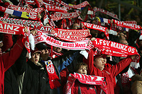Mainzer Fans mit ihren Schals
