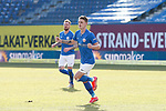 20.02.2021, xtgx, Fussball 3. Liga, FC Hansa Rostock - SV Waldhof Mannheim, v.l. Nico Neidhart (Hansa Rostock, 7) Jubel, Torjubel, jubelt ueber das Tor, celebrate the goal, celebration <br /> <br /> (DFL/DFB REGULATIONS PROHIBIT ANY USE OF PHOTOGRAPHS as IMAGE SEQUENCES and/or QUASI-VIDEO)<br /> <br /> Foto © PIX-Sportfotos *** Foto ist honorarpflichtig! *** Auf Anfrage in hoeherer Qualitaet/Aufloesung. Belegexemplar erbeten. Veroeffentlichung ausschliesslich fuer journalistisch-publizistische Zwecke. For editorial use only.