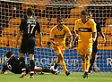 MOTHERWELL'S KEITH LASLEY CELEBRATES AFTER HE SCORES MOTHERWELL'S FIRST GOAL