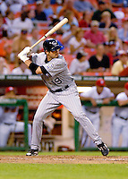 13 June 2006: Ryan Spilborghs, outfielder for the Colorado Rockies, at bat against the Washington Nationals at RFK Stadium, in Washington, DC. The Rockies defeated the Nationals 9-2 in the second game of the four-game series...Mandatory Photo Credit: Ed Wolfstein Photo..