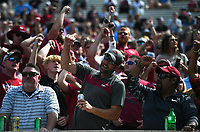 Arkansas fans cheer, Saturday, October 9, 2021 during the third quarter of a football game at Vaught Hemingway Stadium in Oxford, Miss. Check out nwaonline.com/211010Daily/ for today's photo gallery. <br /> (NWA Democrat-Gazette/Charlie Kaijo)