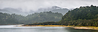 Moody scene at Lake Waikaremoana in rain, Te Urewera, Hawke's Bay, North Island, New Zealand, NZ