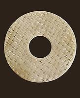 Disk symbol of heaven. 3rd c. BC. Chinese art. Han period. Ceramics. FRANCE. Paris. Musée Cernuschi (Cernuschi Museum). Proc: