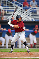 Mahoning Valley Scrappers second baseman Mark Mathias (29) at bat during a game against the Batavia Muckdogs on June 22, 2015 at Dwyer Stadium in Batavia, New York.  Mahoning Valley defeated Batavia 15-11.  (Mike Janes/Four Seam Images)