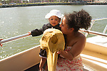 Learning about dolphins on the Galveston Marine Biology boat tour