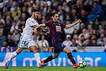 Paulo Andre Rodrigues de Oliveira (r) of SD Eibar is tackled by Marco Asensio Willemsen of Real Madrid during the La Liga 2017-18 match between Real Madrid and SD Eibar at Estadio Santiago Bernabeu on 22 October 2017 in Madrid, Spain. Photo by Diego Gonzalez / Power Sport Images