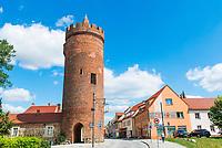 Luckauer Torturm, auch Dicker Turm, Stadtmauer, Beeskow, Oder-Spree, Brandenburg, Deutschland