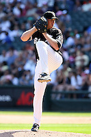 August 15 2008:  Pitcher Adam Russell of the Chicago White Sox during a game at U.S. Cellular Field in Chicago, IL.  Photo by:  Mike Janes/Four Seam Images