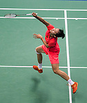 Yihan Wang of China competes during the Semi Final of the Yonex Open Chinese Taipei 2015 at the Taipei Arena on 18 July 2015 in Taipei, Taiwan. Photo by Aitor Alcalde / Power Sport Images