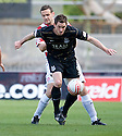 ::  ABERDEEN'S SCOTT VERNON HOLDS OFF HAMILTON'S MARK MCLAUGHLIN  ::.25/04/2011  sct_jsp005_hamilton_v_aberdeen  .Copyright  Pic : James Stewart.James Stewart Photography 19 Carronlea Drive, Falkirk. FK2 8DN      Vat Reg No. 607 6932 25.Telephone      : +44 (0)1324 570291 .Mobile              : +44 (0)7721 416997.E-mail  :  jim@jspa.co.uk.If you require further information then contact Jim Stewart on any of the numbers above........