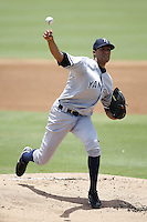 July 12, 2009:  Pitcher Hector Noesi of the Tampa Yankees during a game at Dunedin Stadium in Dunedin, FL.  Tampa is the Florida State League High-A affiliate of the New York Yankees.  Photo By Mike Janes/Four Seam Images