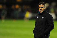 Head Coach Allen Clarke of Ospreys during the pre match warm up for the Guinness Pro14 match between the Ospreys and Connacht Rugby at Morganstone Brewery Field in Bridgend, Wales, UK. Friday 26 October 2018
