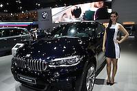 SAO PAULO, SP, 02.11.2014 - SALAO DO AUTOMOVEL - BMW X5 M Sport em exposição<br />  durante o quarto dia do 28º Salão Internacional do Automóvel no Anhembi na região norte de São Paulo, neste domingo, 02. (Foto: Marcos Moraes / Brazil Photo Press).