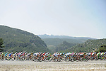 The peloton ride through the Taurus Mountains during Stage 3 of the 2015 Presidential Tour of Turkey running 165.3km from Kemer to Elmali. 28th April 2015.<br /> Photo: Tour of Turkey/Mario Stiehl/www.newsfile.ie