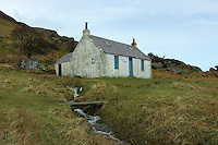 Laggan Cottage near Lochranza, Isle of Arran, Ayrshire<br /> <br /> Copyright www.scottishhorizons.co.uk/Keith Fergus 2011 All Rights Reserved