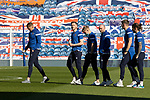 Rangers v St Johnstone…25.04.21   Ibrox.  Scottish Cup<br />The saints players on the Ibrox pitch shortly after arriving<br />Picture by Graeme Hart.<br />Copyright Perthshire Picture Agency<br />Tel: 01738 623350  Mobile: 07990 594431