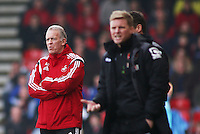 Swansea City First team coach Alan Curtis during the Barclays Premier League match between AFC Bournemouth and Swansea City played at The Vitality Stadium, Bournemouth on March 12th 2016